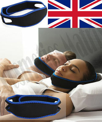 Anti Stop Snoring Snor Strap Belt Sleep Aid Adjustable Chin Support Jaw Snoring