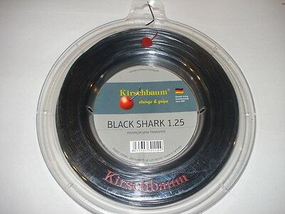 Kirschbaum Black Shark Tennis String 200m - Gauge 17 / 1.25mm