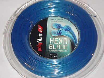 Polyfibre Hexablade 200m Reel 1.25mm Tennis String