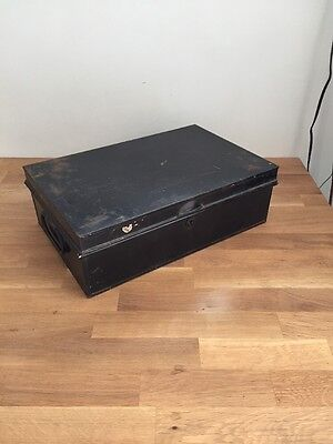 Vintage Deed / Documents Metal Box