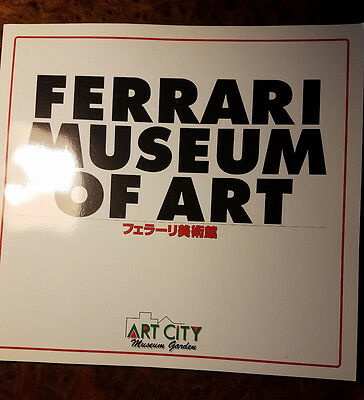 Ferrari Matsuda Museum OF Art  Brochure in Japan 1997