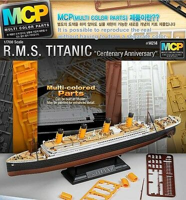 RMS TITANIC 700 Centenary Anniversary Assembly Model Kit Include Display Stand