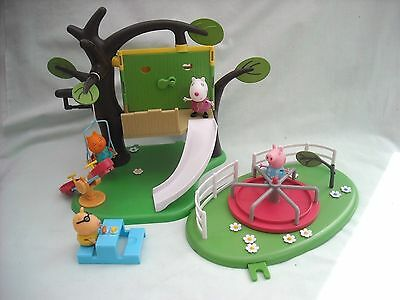 Peppa Pig Tree House & Park Bundle With Figures