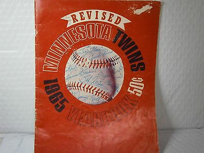 Minnesota Twins Baseball Vintage 1965 Yearbook MLB Killebrew Oliva Kaat Perry