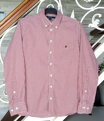 GANT Heritage Pinpoint Check Boy's Long Sleeve Shirt Size : 11 - 12 Years