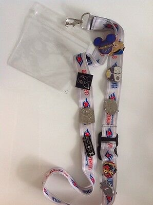 Castaway Membe NEW Lanyard  with 10 Trading pins on it DCL Captain Mickey Disney
