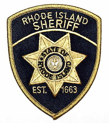 "RHODE ISLAND SHERIFF RI Police Sheriff Patch STAR ANCHOR 4"" ~"