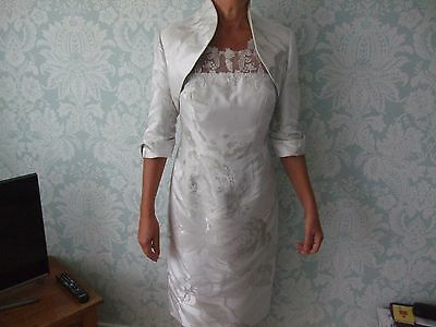John Charles Mother Of The Bride Dress And Bolero Jacket Size 12 / 14