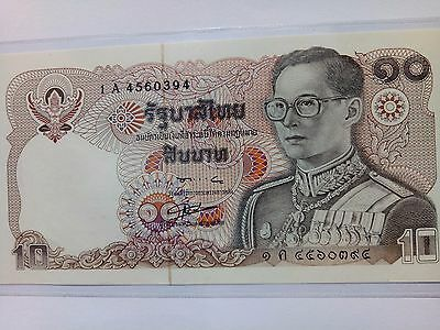 OLD RARE THAI KING RAMA9  Authentic   Thailand   10 Baht  New Unused  COLLEECT