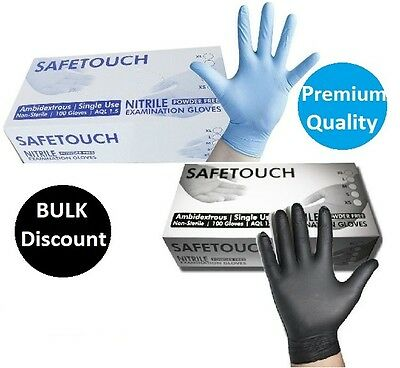 Strong Disposable Black Nitrile Blue Nitrile Powder Free Gloves Multi Purpose