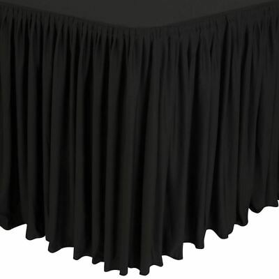Nisbets Table Top Black Cover And Skirting Plisse Style Polyester