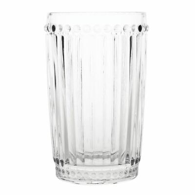 Olympia Baroque Glass Tumbler in Clear Made of Glass 395ml / 14oz