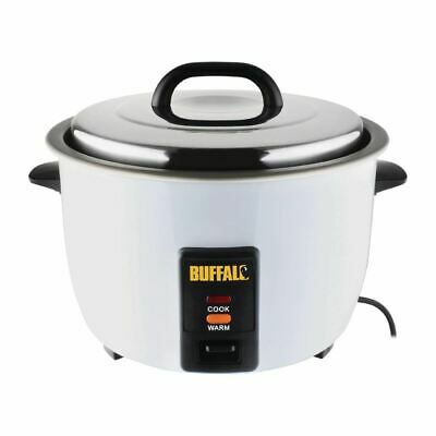 Buffalo Rice Cooker 4Ltr Stainless Steel White 1.55kW