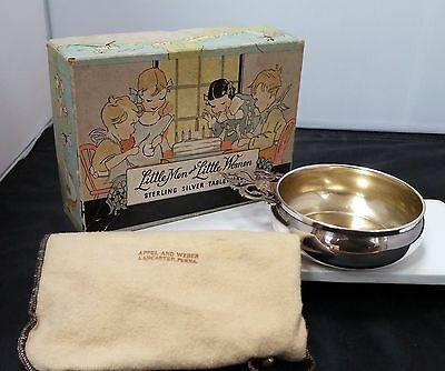 1940's Sterling Silver Large Porringer By Roger, Lunt & Bowlen With Original Box