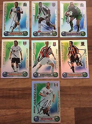 7 Hand Signed Match Attax Cards 08/09 (Man Of The Match)