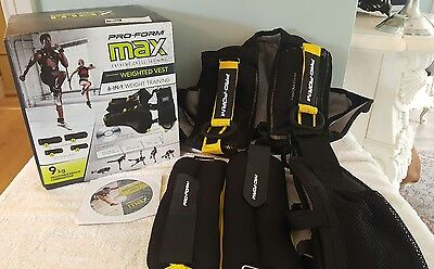 Pro-Form Max Extreme Cross Training Adjustable Weighted Vest Proform Weight