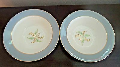 "Vintage Homer Laughlin 9"" Round Veg. Serving Bowls x2 Lily of the Valley 1950's"