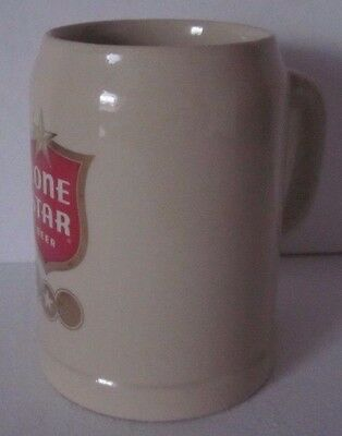 Vintage LONE STAR BEER MUG CUP STEIN  0.5L GERZ with Gold REd Logo
