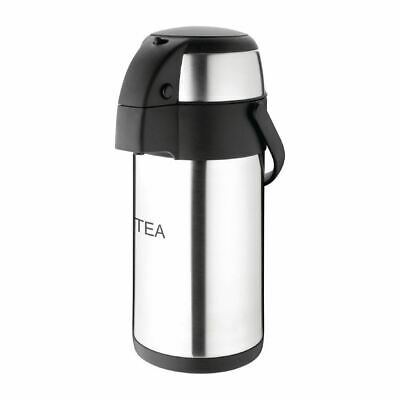 Olympia Pump Action Airpot Thermos Stainless Steel with Swing Carry Handle 3L