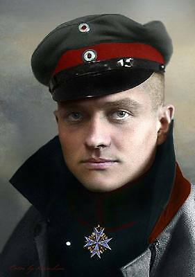 Manfred Von Richthofen The Bloody Red Barron German WWI pilot A4 Gloss Photo