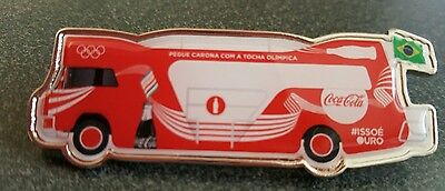 2016 Rio Olympic COCA COLA COKE TORCH RELAY LARGE TRUCK pin