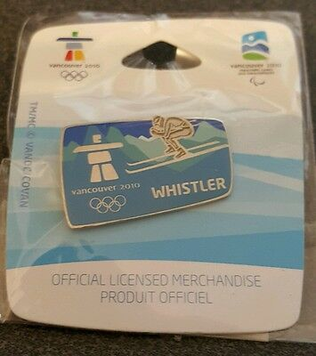 2010 Vancouver Olympic  WHISTLER  VENUE DOWN HILL SKIING PIN