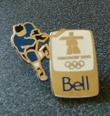 Vancouver 2010 Olympic Bell Hockey Player  pin