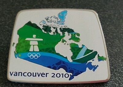 2010 Vancouver Olympic MAP OF CANADA LARGE pin
