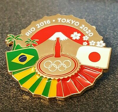 2016 Rio Olympic 2020 Tokyo Japan Bridge Gorgeous large Pin