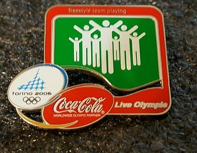 2006 Torino Coke Coca-Cola Freestyle team playing Olympic pin