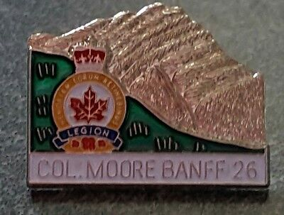 Royal Canadian Legion COLONEL MOORE BANFF  pin