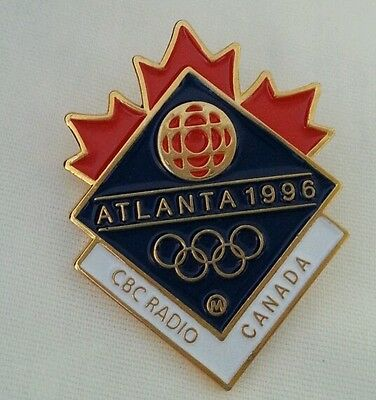 1996 Atlanta  Olympic CBC Radio Media  pin