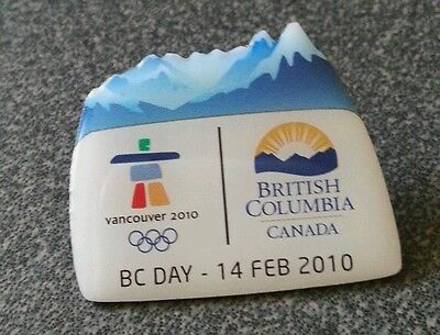 Vancouver 2010 Olympic BC Day Feb 14 th pin