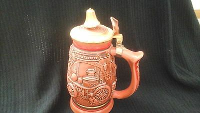 Avon 1989 Tribute to American Fire Fighters Lidded Beer Stein handcrafted Brazil