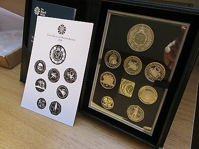 2016 UK PROOF COIN SET COMMEMORATIVE EDITION. 8 x coins includes last round £1