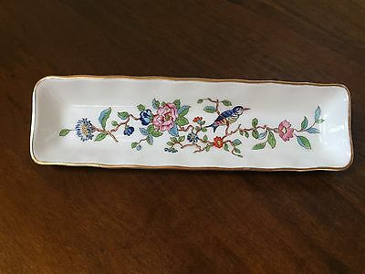 Aynsley PEMBROKE Mint Olive Jewelry Dish with Gold Trim ~ England