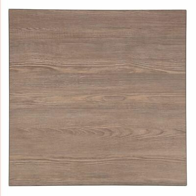 Bolero Pre-drilled Square Table Top Vintage Wood 600mm Indoors