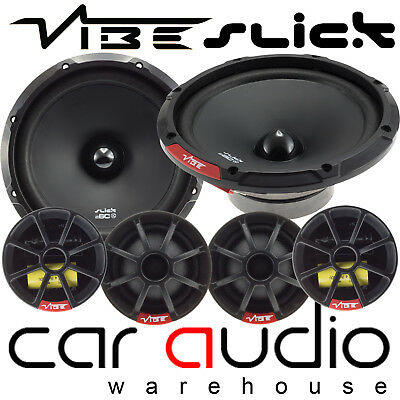"Vibe Slick 6C 540 Watts a Pair 17cm 6.5"" Component Kit Car & Van Door Speakers"