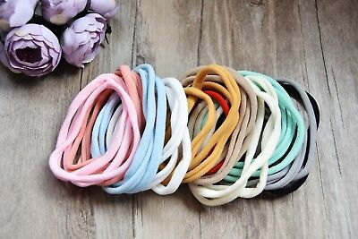 3/10 Pcs Thin Skinny Soft Baby Nylon Stretchy Headbands Hair Band Elastics Wrap