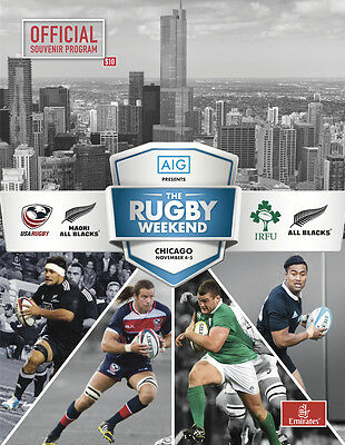 Ireland v New Zealand (All Blacks), Chicago 2016 Official Programme Slight Flaw