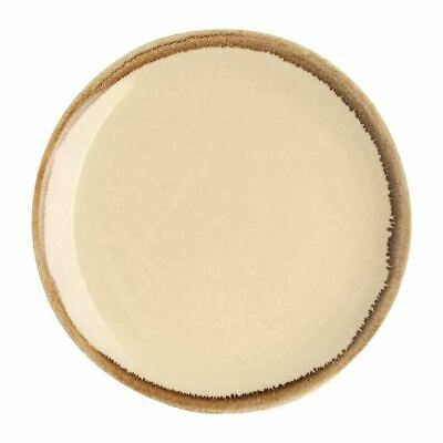 Olympia Kiln Round Coupe Plate in Sandstone - Porcelain - 230(Ø) mm