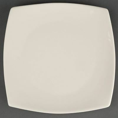 12X Olympia Ivory Round Square Service Plates 191mm Porcelain Restaurant