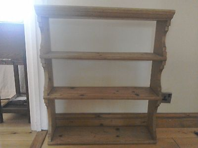 Antique 19th century pine open backed wall shelf.