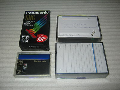3 x Video Camera Tapes - EC60 - Mini DV - Panasonic - Lot