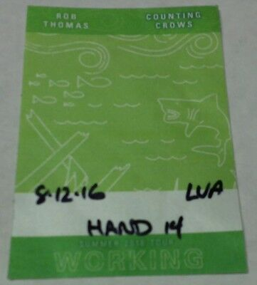 ROB THOMAS & COUNTING CROWS, unused Working Pass / 2016 tour