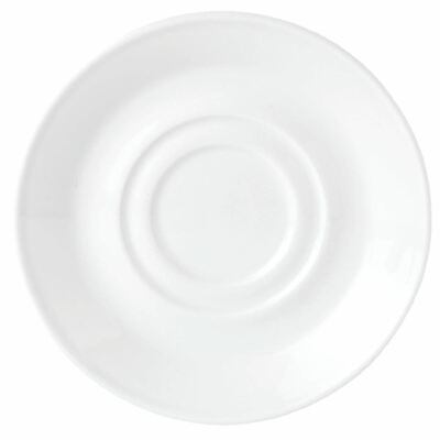 Pack of 12 Steelite Simplicity White Low Empire Small Saucers Double Well 117mm