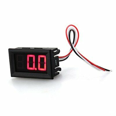 Meter Mini Panel 0-100V DC voltmeter Tension Show 20mA three red wire P4F4