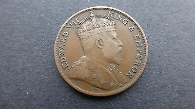 Edward vii States of Jersey 1909 one twenty fourth of a shilling coin    Ref 460