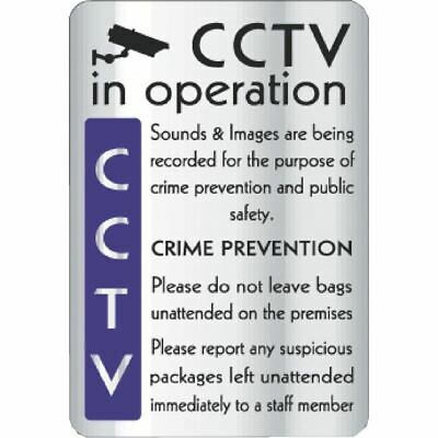 CCTV In Operation Crime Prevention - Highly Visible Safety Sign - 290x195mm