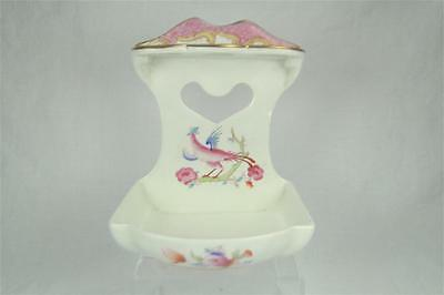 Pretty Vintage Bisto Toothbrush Holder, Bishop & Stonier, Flowers & Pheasant